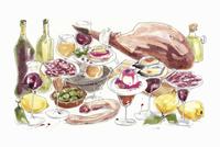 Buffet of tapas food and wine 20039008172| 写真素材・ストックフォト・画像・イラスト素材|アマナイメージズ