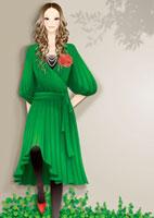 壁に寄りかかり立っている女性 20041000330| 写真素材・ストックフォト・画像・イラスト素材|アマナイメージズ