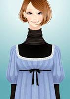 正面を向いている女性 20041000334| 写真素材・ストックフォト・画像・イラスト素材|アマナイメージズ
