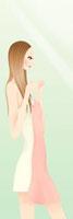 今日着る洋服を選んでいる女性 20041000343| 写真素材・ストックフォト・画像・イラスト素材|アマナイメージズ