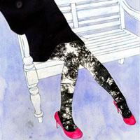 ベンチに座る女の子 20041000381| 写真素材・ストックフォト・画像・イラスト素材|アマナイメージズ