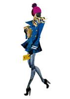 ニット帽とピーコートの女性 20041000388| 写真素材・ストックフォト・画像・イラスト素材|アマナイメージズ