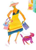 犬とショッピング