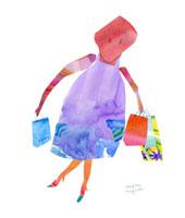 ショッピングの女性