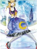 異国の夜景の女性 20041000405| 写真素材・ストックフォト・画像・イラスト素材|アマナイメージズ