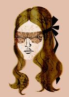 レースのアイマスクのロングヘアの女性 20041000457| 写真素材・ストックフォト・画像・イラスト素材|アマナイメージズ