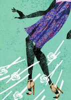 花柄のスカートとハイヒールの女性 20041000460| 写真素材・ストックフォト・画像・イラスト素材|アマナイメージズ