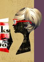 読書をする赤い眼鏡の女性 20041000463| 写真素材・ストックフォト・画像・イラスト素材|アマナイメージズ