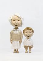 おばあちゃんと孫 20041000465| 写真素材・ストックフォト・画像・イラスト素材|アマナイメージズ