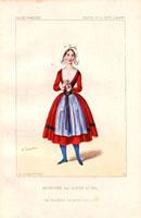 Dancer in costume of Bretagne