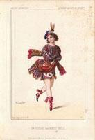 Ballerina in Scottish kilt and sporran