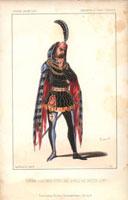 Actor in carnival costume