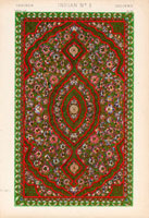 Indian floral carpet pattern