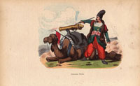 Persian artillery firing cannon