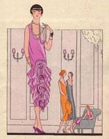 Mauve silk evening robe