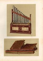 Portable organ and Bible regal (harmonium)