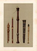 Two double flageolets,German flute,2 flutes douces