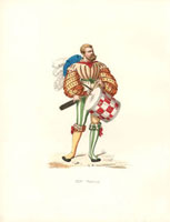 Drummer,Venice,puff-sleeves,striped stockings