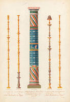 Antique murals and mosaic column