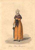 Petite bourgeoise,woman in lace bonnet,shawl,long coat 20042001376| 写真素材・ストックフォト・画像・イラスト素材|アマナイメージズ