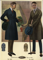 Men in double-breasted wool coats