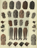 Mens' coats, jackets, trousers