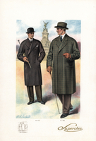 Men in coats with hats and canes