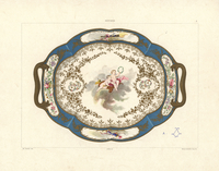 Platter with cupids and roses