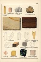 Aragonite, dolomite, anhydrite, apatite, etc.