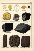 Sulphur, graphite, amber, coal, etc.