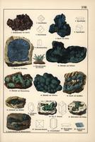 Cuprite, azurite, malachite, etc.