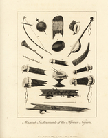 Musical instruments of African slaves.