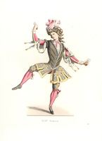 Man in ballet costume, 17th century,