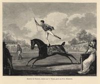 Horse acrobat Antonio Franconi.