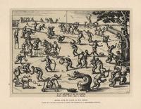 Monkeys playing golf, football, skittles, etc.