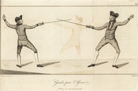 Guard positions in a duel.