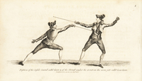 Fencers in carte and low-carte positions.