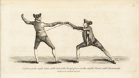 Fencers in inside carte and flanconade.