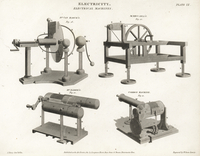 Electrical machines, 18th century.