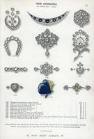 Gem brooches in diamond, pearl. 20042003756| 写真素材・ストックフォト・画像・イラスト素材|アマナイメージズ