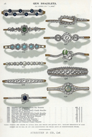 Gem bracelets in sapphire, diamond. 20042003759| 写真素材・ストックフォト・画像・イラスト素材|アマナイメージズ