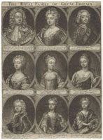 The Royal Family of Great Britain (King George II,Caroline