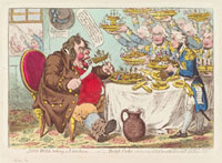 John Bull taking a luncheon: - or - British cooks,cramming