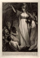 Boadicea Haranguing the Britons (called Boudicca,or Boadice
