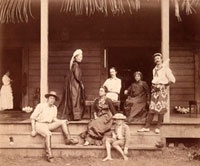 Robert Louis Stevenson and family