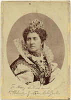 Adelaide Ristori as Queen Elizabeth in 'Elizabeth,Queen of