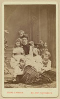 Alexandra of Denmark with her children (Princess Louise Vict