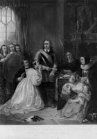 Cromwell's family interceding for the life of King Charles