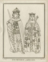 King Richard III and Anne Neville,Queen of England