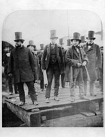 Isambard Kingdom Brunel preparing the launch of 'The Great